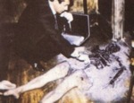 The typically gruesome remains - notice how the legs have been left untouched by the fire.