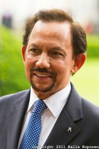 The benign ruler his highness Hassanal Bolkiah, Sultan of Brunei.