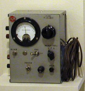 Even though based on hidden guide rails, this vehicle detector was state-of-the-art in 1957