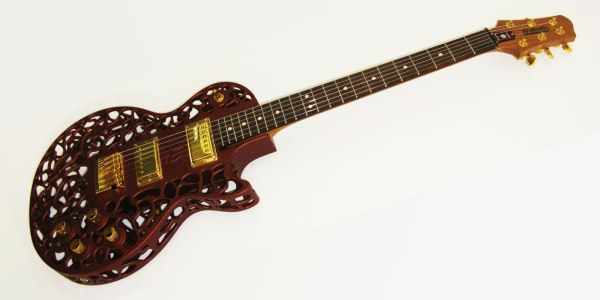 Atom - a commercial 3D-printed guitar.