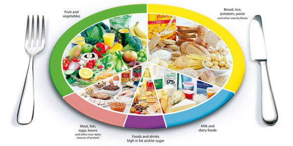 The eat-well-plate - that's a lot of food on one plate!