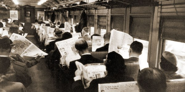 At least in the good old days, people were sociable.